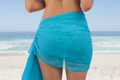 Rear view of a young woman wearing a sarong Stock Photography
