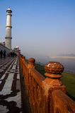 Rear walkway of the Taj Mahal Royalty Free Stock Photos