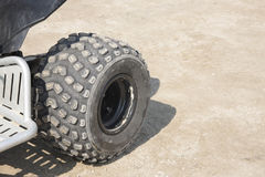 Rear wheel of an all-terrain vehicle Royalty Free Stock Photo
