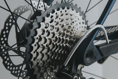 Rear wheel cassette from a mountain bike. Stock Images