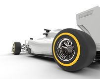 Rear wheel of formula one car Stock Images