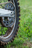 Rear wheel motocross bike Royalty Free Stock Image