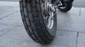 Rear wheel of a motorbike Stock Images