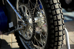 Rear wheel of motorcycle Royalty Free Stock Photos