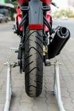 Rear wheel of motorcycle Royalty Free Stock Image