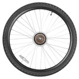 Rear wheel for mountain bike Royalty Free Stock Photo