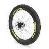 Rear wheel of a mountain bike  on white. 3D illustration. Rear wheel of a mountain bike  on white background. 3D illustration Royalty Free Stock Photo