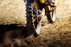 Rear wheel of a sports bike Royalty Free Stock Photography
