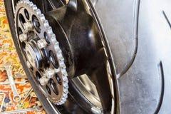 Rear wheel sports bike Royalty Free Stock Image