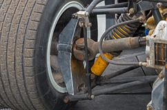 Rear wheel suspension Royalty Free Stock Photo