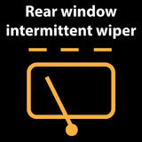 Rear window intermittent wiper sign,  illustration icon, dtc code error, dasboard. Vector illustration representing icon of car dashboard  - rear window Royalty Free Stock Photography