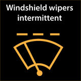 Rear window intermittent wiper sign, vector illustration icon, dtc code error, dasboard. Vector illustration representing icon for intermittent windshield wipers Stock Photography