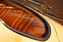 Rear Window & Luggage Rack. Rear Window and Luggage Rack from a Restored Vintage 356 Porsche Sports Car Stock Photos