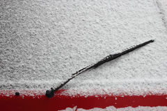 Rear window wiper snow Stock Photography