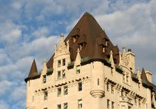 Rear Wing of Chateau Laurier Royalty Free Stock Photo