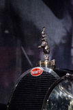 Rearing elephant hood ornament on a 1932 Bugatti Type 41 Royale. Los Angeles, CA, USA — March 4, 2017: Rearing elephant hood ornament on a 1932 Bugatti Type 41 Royalty Free Stock Photo