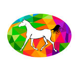 Rearing horse fine vector silhouette, vector horse animal  Stock Image