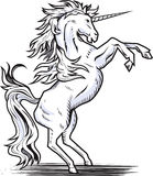 Rearing Unicorn stock illustration