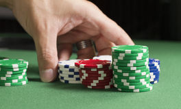 Rearrange Poker Chips Royalty Free Stock Photos