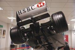 Rearview av bolid F1 Arkivfoto