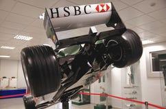 Rearview av bolid F1 Arkivbilder
