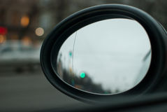 Rearview car mirror Stock Photo