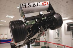 Rearview of F1 bolid Stock Images