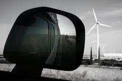 Rearview-LKW-Fahren Lizenzfreie Stockfotografie