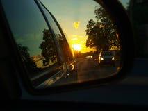 Rearview lustra strzał zdjęcia stock