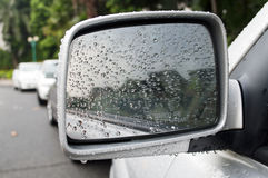 Rearview mirror Stock Images