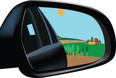 Rearview Mirror Stock Photo