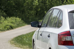Rearview mirror on a car Royalty Free Stock Photo