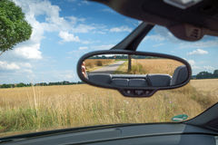 Rearview mirror inside the car Stock Images