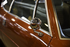 Rearview mirror of a red car Royalty Free Stock Photos