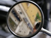 Rearview mirror of scooter. Or motorbike Stock Photography