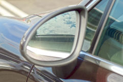Rearview Mirror. Sky Reflection Shine Royalty Free Stock Photos