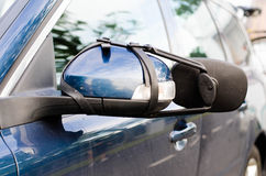 Rearview mirrors. Extra rearview mirrors for the caravan/trailer Royalty Free Stock Images