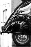 Rearview of an old car. In Black and White Royalty Free Stock Images