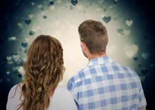 Rearview of romantic couple Stock Photos