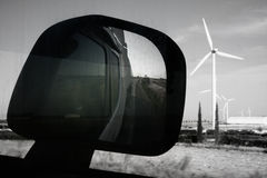 Rearview truck driving Royalty Free Stock Photography