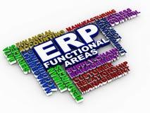 ?reas funcionales del ERP ilustración del vector