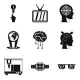 Reason icons set, outline style. Reason icons set. Outline set of 9 reason vector icons for web isolated on white background Stock Photography