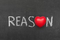 Reason. Word handwritten on blackboard with heart symbol instead of O royalty free stock photo