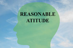 Reasonable Attitude concept Stock Images