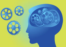 Reasoning within the brain Royalty Free Stock Image