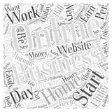 Reasons for starting a profitable home business word cloud concept Royalty Free Stock Images