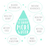 Reasons to drink more water Stock Image