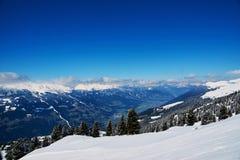 Reasort лыжи зимы Стоковые Изображения