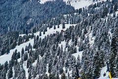 Reasort de ski d'hiver Images libres de droits