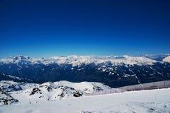 Reasort de ski d'hiver Photos stock
